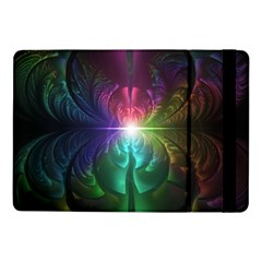 Anodized Rainbow Eyes And Metallic Fractal Flares Samsung Galaxy Tab Pro 10 1  Flip Case