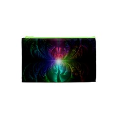 Anodized Rainbow Eyes And Metallic Fractal Flares Cosmetic Bag (xs) by jayaprime