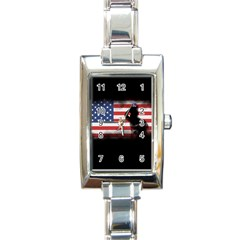 Honor Our Heroes On Memorial Day Rectangle Italian Charm Watch