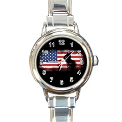 Honor Our Heroes On Memorial Day Round Italian Charm Watch by Catifornia