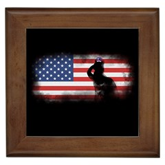 Honor Our Heroes On Memorial Day Framed Tiles by Catifornia
