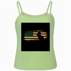 Honor Our Heroes On Memorial Day Green Spaghetti Tank