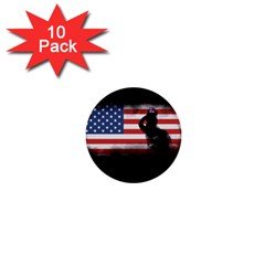 Honor Our Heroes On Memorial Day 1  Mini Buttons (10 Pack)  by Catifornia
