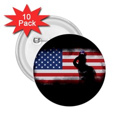 Honor Our Heroes On Memorial Day 2 25  Buttons (10 Pack)  by Catifornia