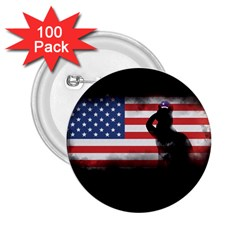 Honor Our Heroes On Memorial Day 2 25  Buttons (100 Pack)  by Catifornia