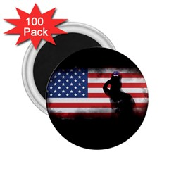 Honor Our Heroes On Memorial Day 2 25  Magnets (100 Pack)  by Catifornia