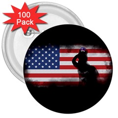 Honor Our Heroes On Memorial Day 3  Buttons (100 Pack)  by Catifornia