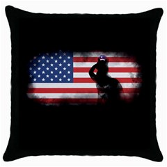 Honor Our Heroes On Memorial Day Throw Pillow Case (black) by Catifornia