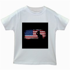 Honor Our Heroes On Memorial Day Kids White T Shirts by Catifornia
