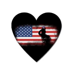 Honor Our Heroes On Memorial Day Heart Magnet by Catifornia