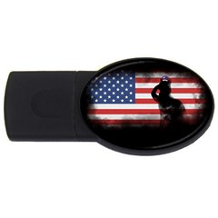 Honor Our Heroes On Memorial Day Usb Flash Drive Oval (2 Gb) by Catifornia