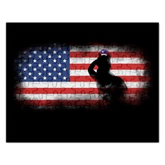Honor Our Heroes On Memorial Day Rectangular Jigsaw Puzzl