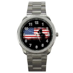 Honor Our Heroes On Memorial Day Sport Metal Watch by Catifornia