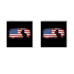 Honor Our Heroes On Memorial Day Cufflinks (square) by Catifornia