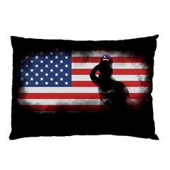 Honor Our Heroes On Memorial Day Pillow Case by Catifornia