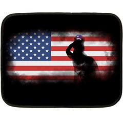 Honor Our Heroes On Memorial Day Double Sided Fleece Blanket (mini)  by Catifornia
