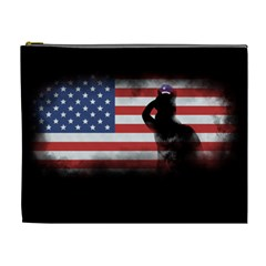 Honor Our Heroes On Memorial Day Cosmetic Bag (xl) by Catifornia