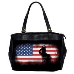 Honor Our Heroes On Memorial Day Office Handbags (2 Sides)  by Catifornia