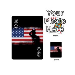 Honor Our Heroes On Memorial Day Playing Cards 54 (mini)  by Catifornia