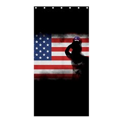 Honor Our Heroes On Memorial Day Shower Curtain 36  X 72  (stall)  by Catifornia