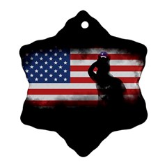 Honor Our Heroes On Memorial Day Ornament (snowflake) by Catifornia