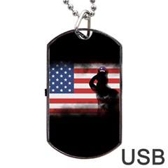 Honor Our Heroes On Memorial Day Dog Tag Usb Flash (two Sides) by Catifornia