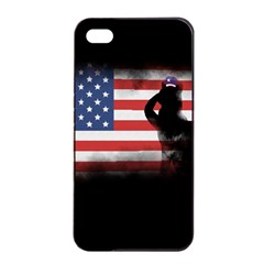 Honor Our Heroes On Memorial Day Apple Iphone 4/4s Seamless Case (black) by Catifornia