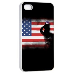 Honor Our Heroes On Memorial Day Apple Iphone 4/4s Seamless Case (white) by Catifornia