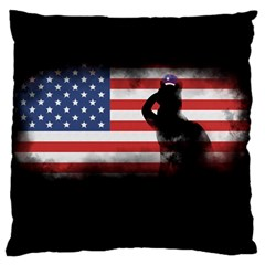 Honor Our Heroes On Memorial Day Large Cushion Case (one Side) by Catifornia