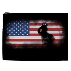 Honor Our Heroes On Memorial Day Cosmetic Bag (xxl)  by Catifornia