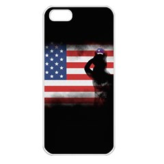 Honor Our Heroes On Memorial Day Apple Iphone 5 Seamless Case (white) by Catifornia