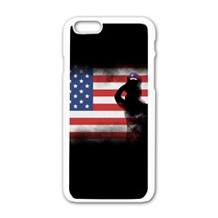 Honor Our Heroes On Memorial Day Apple Iphone 6/6s White Enamel Case by Catifornia