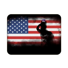Honor Our Heroes On Memorial Day Double Sided Flano Blanket (mini)