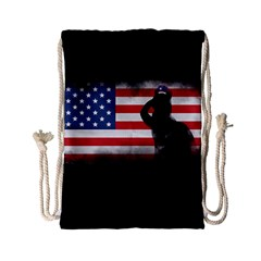 Honor Our Heroes On Memorial Day Drawstring Bag (small) by Catifornia