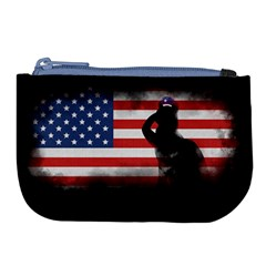 Honor Our Heroes On Memorial Day Large Coin Purse by Catifornia