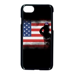Honor Our Heroes On Memorial Day Apple Iphone 7 Seamless Case (black) by Catifornia