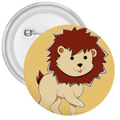 Happy Cartoon Baby Lion 3  Buttons by Catifornia