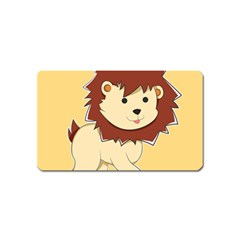 Happy Cartoon Baby Lion Magnet (name Card) by Catifornia