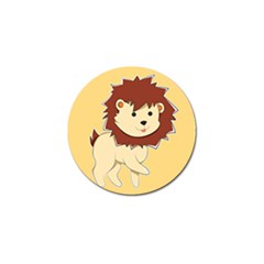 Happy Cartoon Baby Lion Golf Ball Marker by Catifornia
