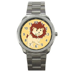 Happy Cartoon Baby Lion Sport Metal Watch by Catifornia