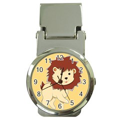 Happy Cartoon Baby Lion Money Clip Watches by Catifornia