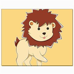 Happy Cartoon Baby Lion Canvas 8  X 10  by Catifornia
