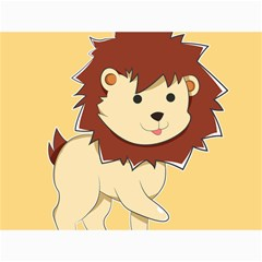 Happy Cartoon Baby Lion Canvas 12  X 16   by Catifornia