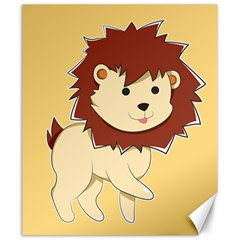 Happy Cartoon Baby Lion Canvas 20  X 24   by Catifornia