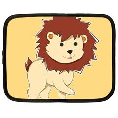 Happy Cartoon Baby Lion Netbook Case (xl)  by Catifornia