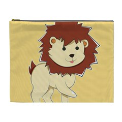 Happy Cartoon Baby Lion Cosmetic Bag (xl) by Catifornia