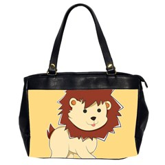 Happy Cartoon Baby Lion Office Handbags (2 Sides)  by Catifornia