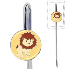 Happy Cartoon Baby Lion Book Mark by Catifornia