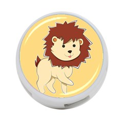 Happy Cartoon Baby Lion 4 Port Usb Hub (two Sides)  by Catifornia