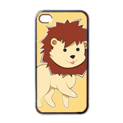 Happy Cartoon Baby Lion Apple Iphone 4 Case (black) by Catifornia